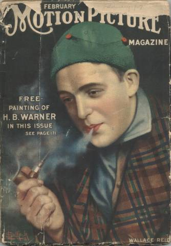 February 1917 Motion Picture Magazine with Wallace Reid cover