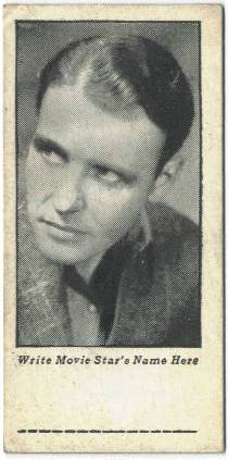 Ralph Bellamy 1934 Cracker Jack Mystery Club Trading Card