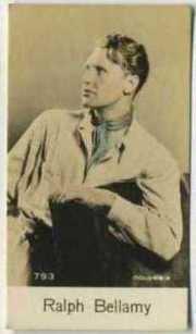 Ralph Bellamy 1930s De Beukelaer Trading Card