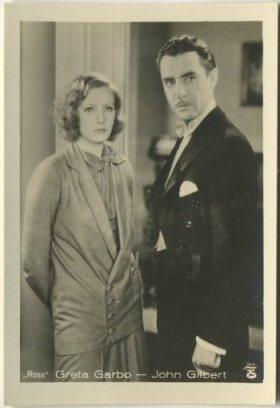 Greta Garbo and John Gilbert 1930s A Batschari Tobacco Card
