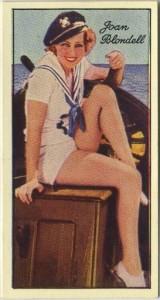 Joan Blondell 1935 Carreras Film Stars Tobacco Card