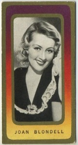 Joan Blondell 1938 Carreras Film Favourites Tobacco Card