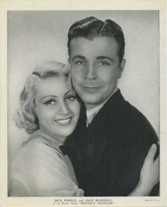 Joan Blondell and Dick Powell 1936 R95 8x10 Linen Textured Premium Photo