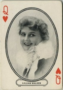 Lillian Walker circa 1916 MJ Moriarty Playing Card