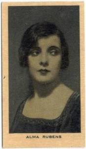 Alma Rubens 1928 Wills Film Favourites Tobacco Card