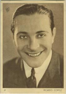 Ricardo Cortez 1930s Aguila Chocolate Premium Card