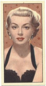 Lana Turner 1955 Barber's Tea Trading Card