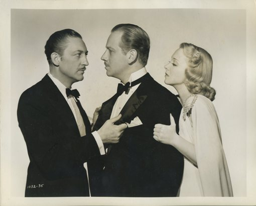 Warren William, Melvyn Douglas and Virginia Bruce in Arsene Lupin Returns