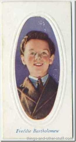 Freddie Bartholomew 1936 Godfrey Phillips Screen Stars tobacco card