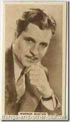 Warner Baxter 1933 United Kingdom Cinema Stars tobacco card