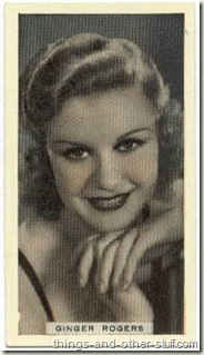 Ginger Rogers 1934 Godfrey Phillips Tobacco Card