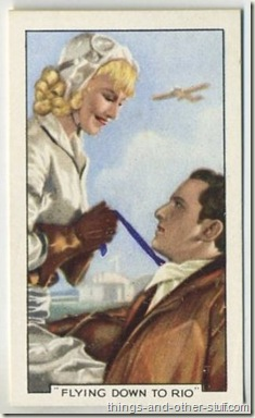 1935 Gallaher Shots from Famous Films tobacco card featuring Ginger Rogers with Raul Roulien