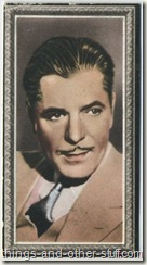 Warner Baxter 1936 Godfrey Phillips tobacco card
