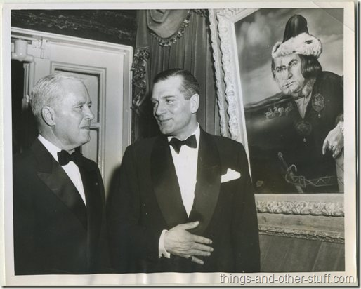 1956 Sir Laurence Olivier and Richard Patterson Jr