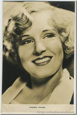Madge Evans 1930's Film Weekly Postcard