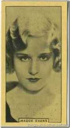 Madge Evans 1932 BAT tobacco card