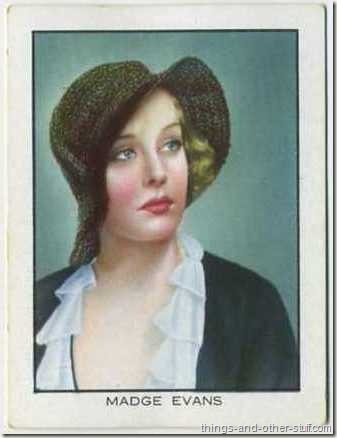 Madge Evans 1933 BAT World Famous Cinema Artistes tobacco card
