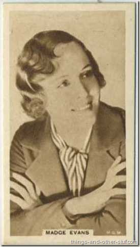 Madge Evans 1933 United Kingdom Cinema Stars tobacco card