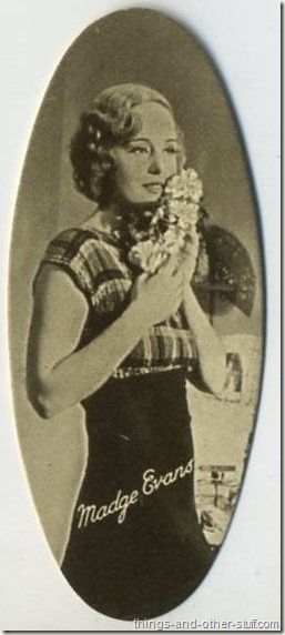 Madge Evans 1934 Carreras Film Stars tobacco card