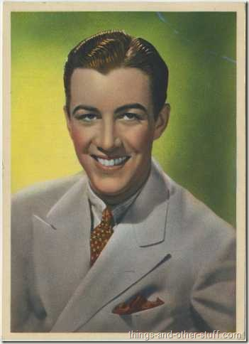 1936 Nestles Large Color Card of Robert Taylor