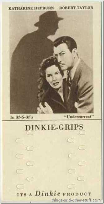 1948 Dinkie Grips shows Taylor with Katharine Hepburn in Undercurrent