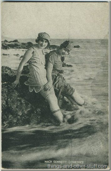 Lillian Langston and Claire Anderson 1920s Mack Sennett Comedies Arcade Card