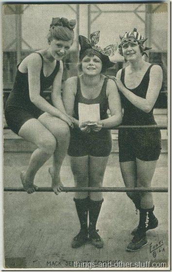 Lillian Biron Vera Reynolds Teddy Sampson 1920s Mack Sennett Comedies Arcade Card