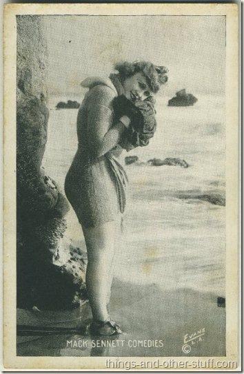Marvel Rea 1920s Mack Sennett Comedies Arcade Card