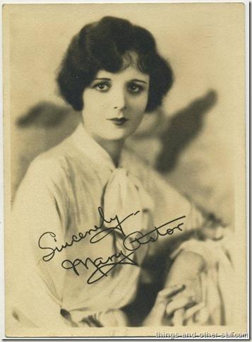 Mary Astor circa 1920's Fan Photo