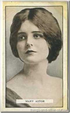 Mary Astor 1926 Gallaher tobacco card