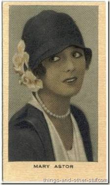 Mary Astor 1928 Wills Film Favourites tobacco card