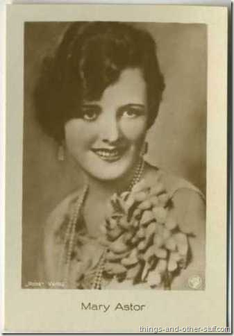 Mary Astor 1930's Jasmatzi tobacco card from Germany