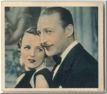 1936 Godfrey Phillips tobacco card features Mary Astor and Warren William