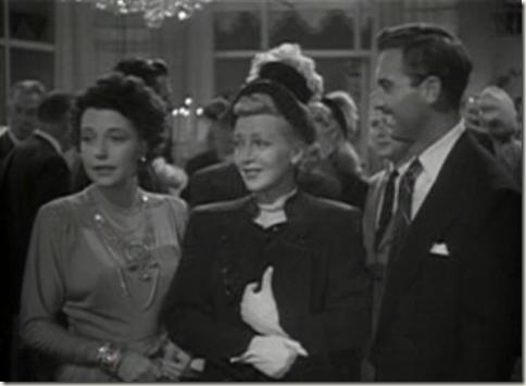 Mona Barrie with Lana Turner and Zachary Scott in a New York scene of Cass Timberlane