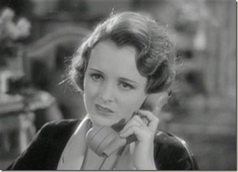 Mary Astor at the end of the phone call