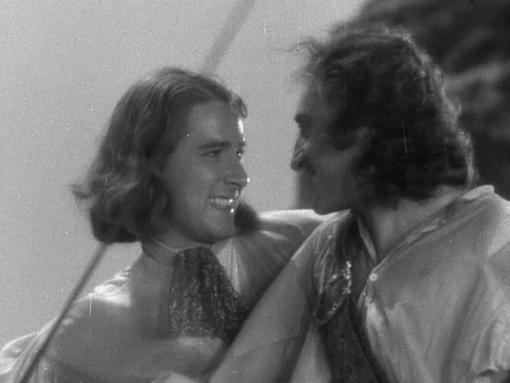 Errol Flynn Basil Rathbone Captain Blood