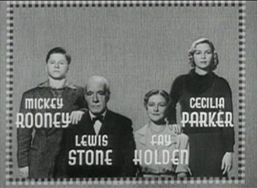 Mickey Rooney Lewis Stone Fay Holden Cecilia Parker