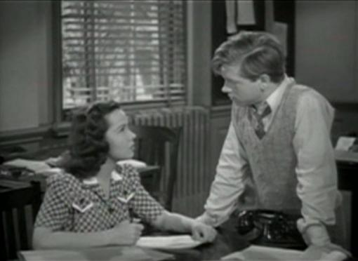 Kathryn Grayson and Mickey Rooney in Andy Hardys Private Secretary