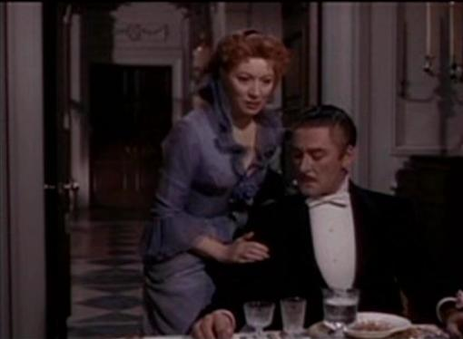 Greer Garson and Errol Flynn in That Forsyte Woman