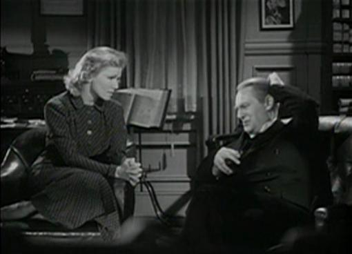 Julie Haydon and Lionel Barrymore in A Family Affair