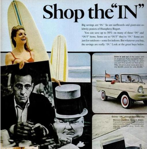Shop the IN Bogart Posters and Surfboards