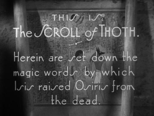 The Scroll of Thoth in The Mummy