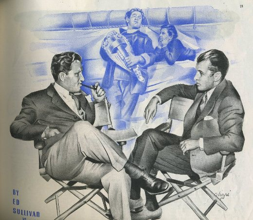 Spencer Tracy and Ed Sullivan illustration