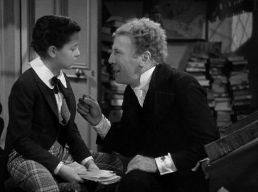 Freddie Bartholomew with Roland Young in David Copperfield