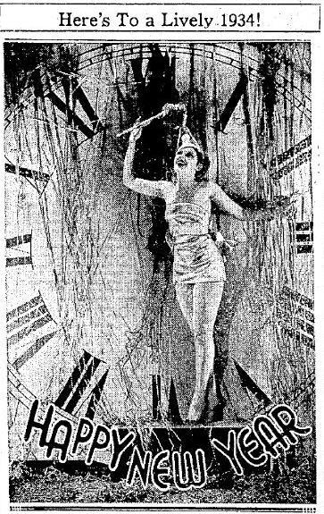Suzanne Kaaren ushers in New Years 1934