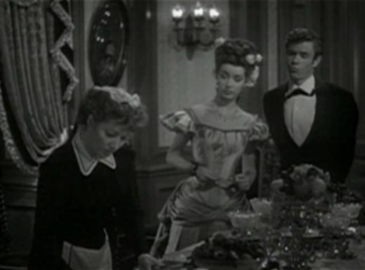 Greer Garson, Marsha Hunt and Marshall Thompson in The Valley of Decision