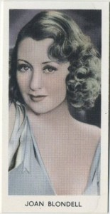 Joan Blondell 1939 Abdulla Tobacco Card