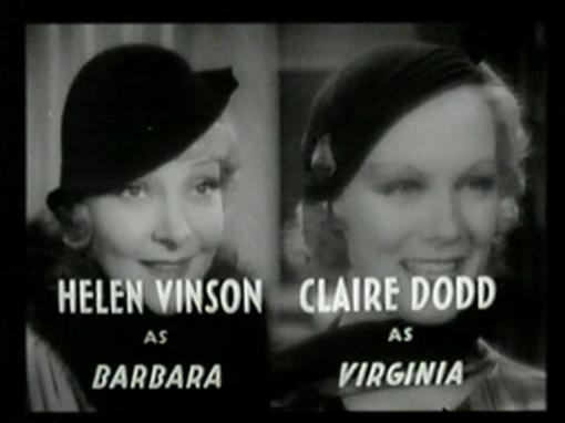 Helen Vinson Claire Dodd