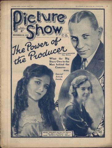 Picture Show Magazine December 22 1923