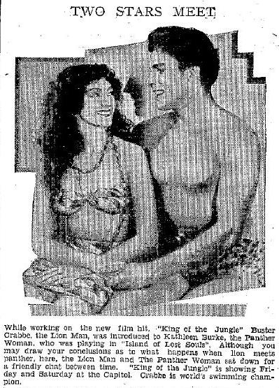 Kathleen Burke and Buster Crabbe